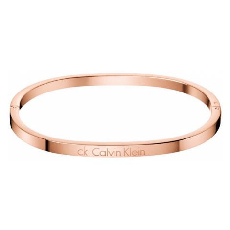 Calvin Klein Pevný bronzový náramek Hook KJ06PD1001 5,4 x 4,3 cm - XS