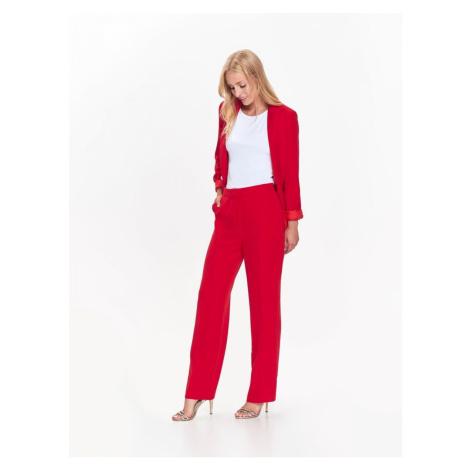 Top Secret Kalhoty dámské červené společenské