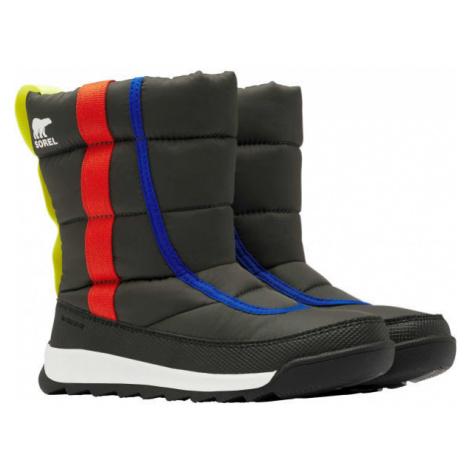 Sorel YOUTH WHITNEY II PUFFY M černá - Dětská zimní obuv