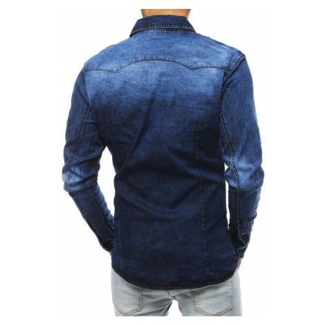Navy blue men's shirt DX1837 DStreet