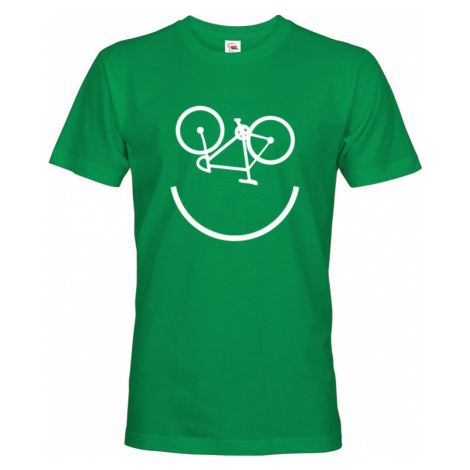 Pánské tričko Cyklo úsměv vám vždy zvedne náladu BezvaTriko