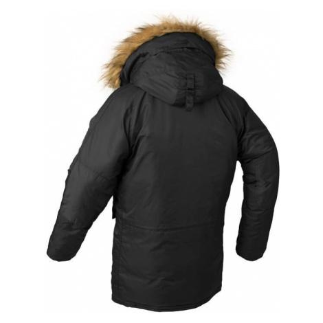 Pánská parka s odenímatelným kožíškem zimní bunda s kapucí