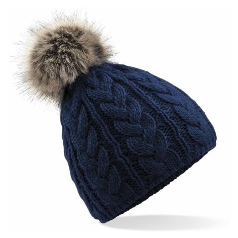 Zimní čepice Beanie - modrá Beechfield