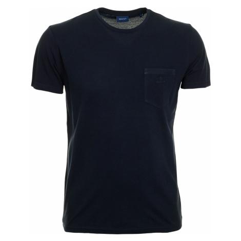 Pánské tmavě modré tričko Gant z bavlněného piké
