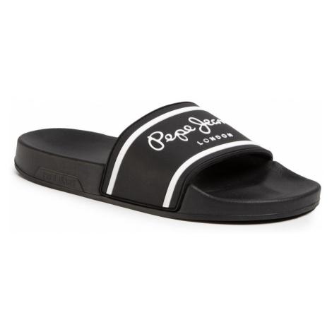 Pepe Jeans Pepe Jeans pánské černé pantofle Slider Basic Man