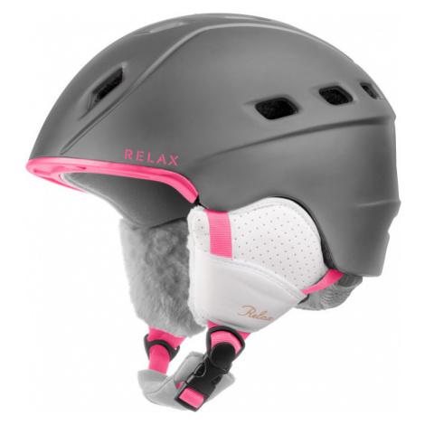 RELAX POLAR Lyžařská helma RH29C růžová