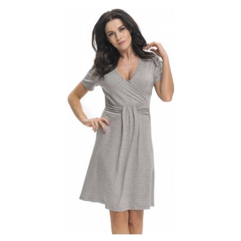 DN Nightwear Těhotenská a kojicí košile Tara šedá