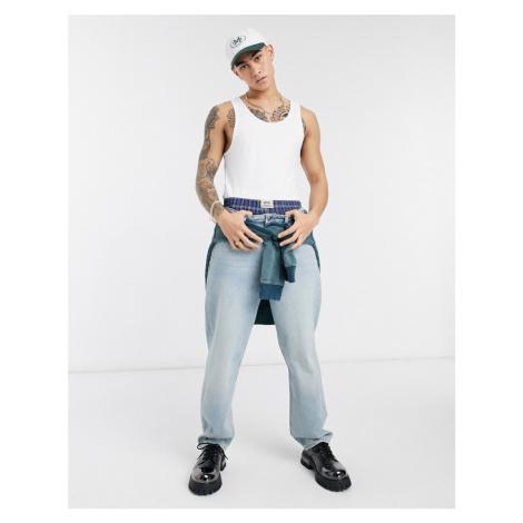 ASOS DESIGN baggy jeans in light wash blue