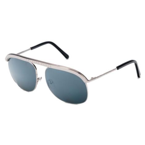 Philipp Plein - drake stříbrné unisex sluneční brýle