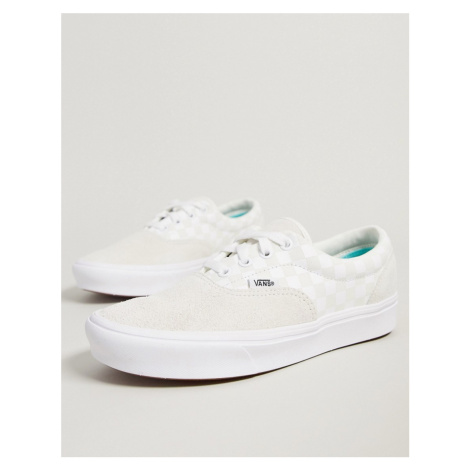 Vans UA ComfyCush Era trainers in marshmallow checkerboard-White
