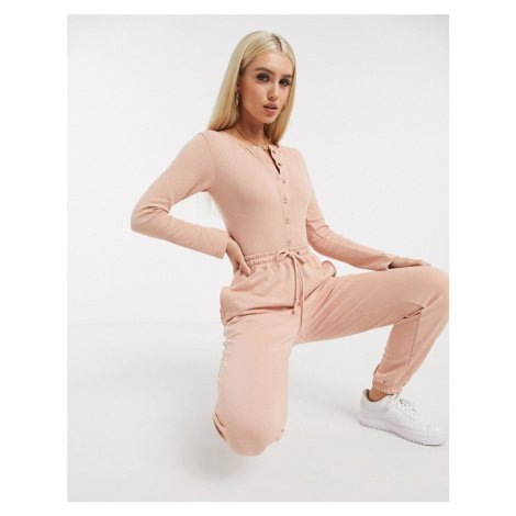 Missguided co-ord oversized joggers in blush-Pink