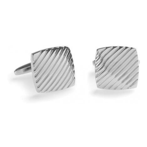 Stříbrné manžetové knoflíčky s vlnkami - řada PREMIUM Avantgard