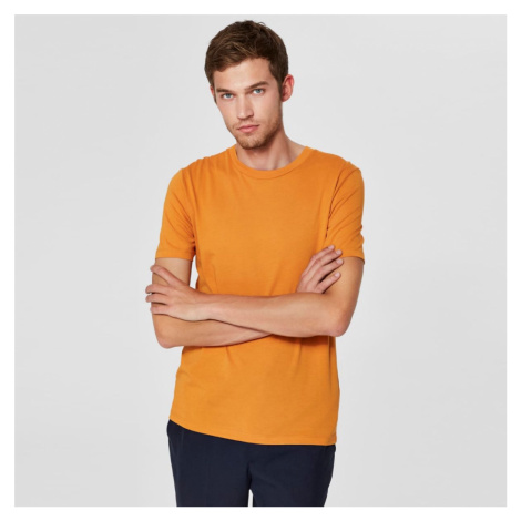 Okrové tričko O-Neck Selected