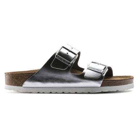 Arizona Soft Footbed Natural Leather Metallic Silver
