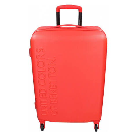 Cestovní kufr United Colors of Benetton Aura L - červená 95l