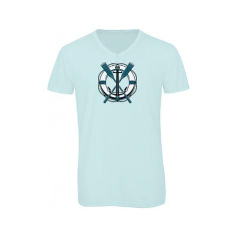 Pánské triko s výstřihem do V Vodáci