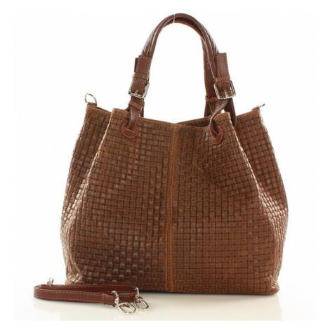 Přírodní kožená taška model 109970 Mazzini universal