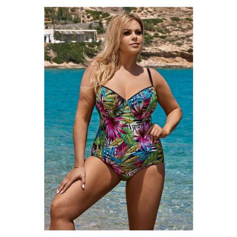 Jednodílné dámské plavky Shannon pestrobarevné Lorin