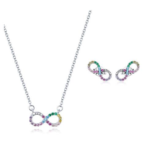 Linda's Jewelry Zvýhodněná sada šperků Infinite Rainbow Ag 925/1000 IS046