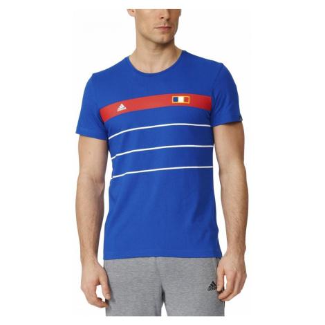 Tričko adidas France History Modrá
