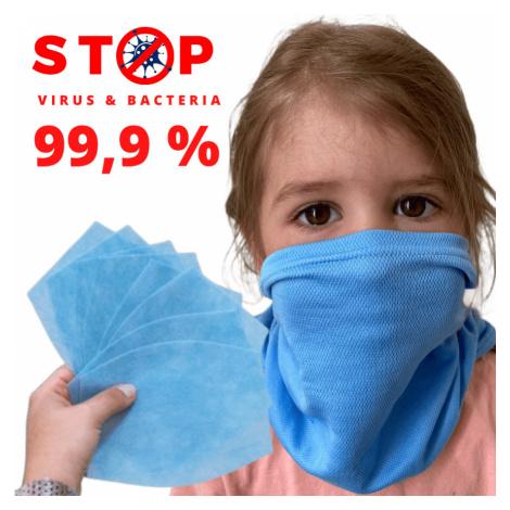 NANO šátek AG-TIVE 3F 99,9% - dětský Modročerná Dětské