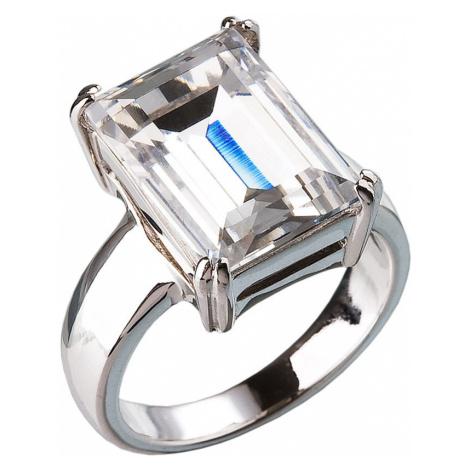 Stříbrný prsten s krystaly bílý 35801.1 Victum