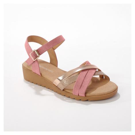 Blancheporte Páskové sandály, béžové/ růžové béžová/růžová