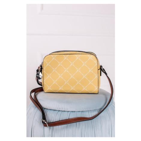 Žlutá crossbody kabelka 30101