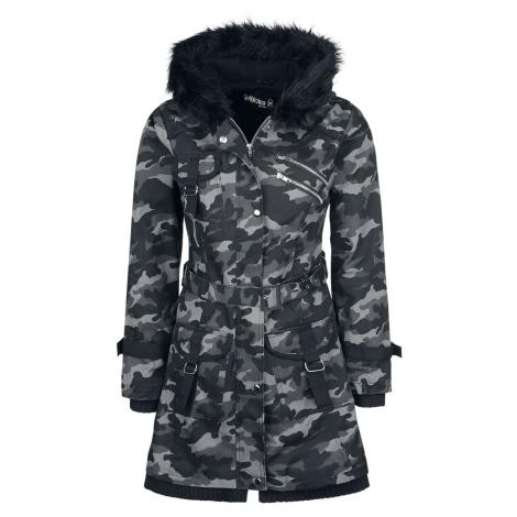 Gothicana by EMP Multi Pocket Jacket dívcí bunda tmavě maskáčová
