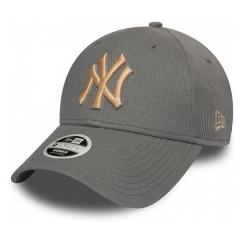 New Era 9FORTY W MLB RIBBED JERSEY NEW YORK YANKEES šedá - Dámská klubová kšiltovka