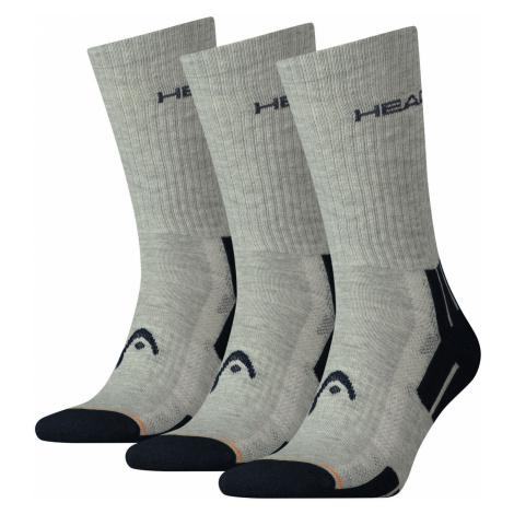 3PACK ponožky HEAD šedé (741020001 650) L