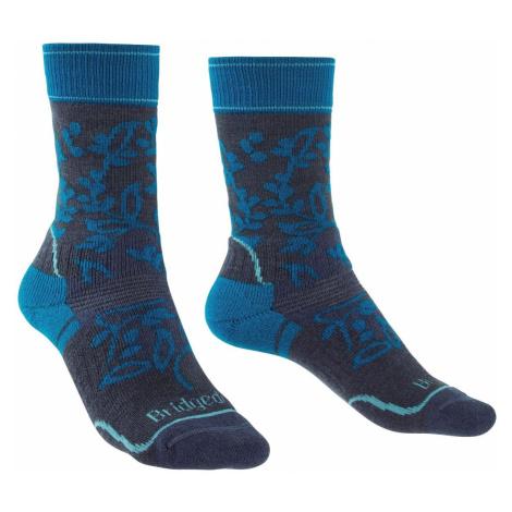Dámské turistické ponožky Bridgedale Hike MW Merino Performance Navy/Blue
