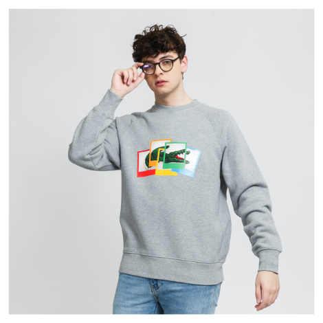 LACOSTE Lacoste LIVE x Polaroid Loose Fit Sweatshirt melange šedá