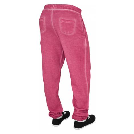 Tepláky Urban Classics Ladies Spray Dye Sweatpant - fuchsia