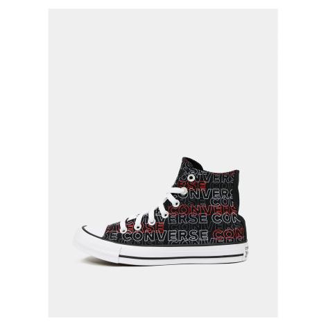 Černé dámské vzorované kotníkové tenisky Converse