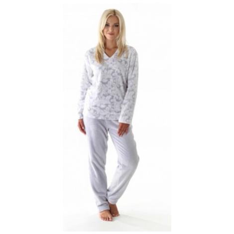 FLORA teplé pyžamo pohodlné domácí oblečení Vestis