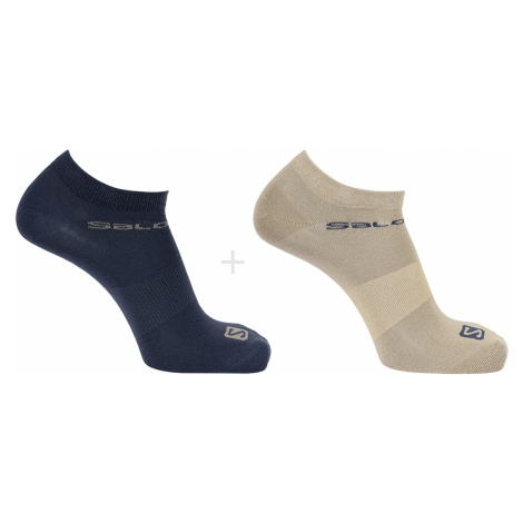 Ponožky alomon FETIVAL 2-PACK - modrá/hnědá Salomon