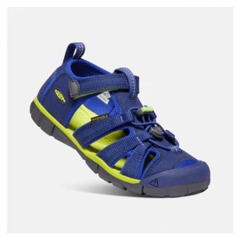 Dětské sandály Keen Seacamp II CNX Youth blue depths/chartreuse