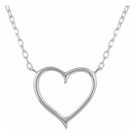 Beneto Stříbrný náhrdelník se srdíčkem AGS288/47
