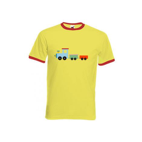 Pánské tričko s kontrastními lemy Kids train