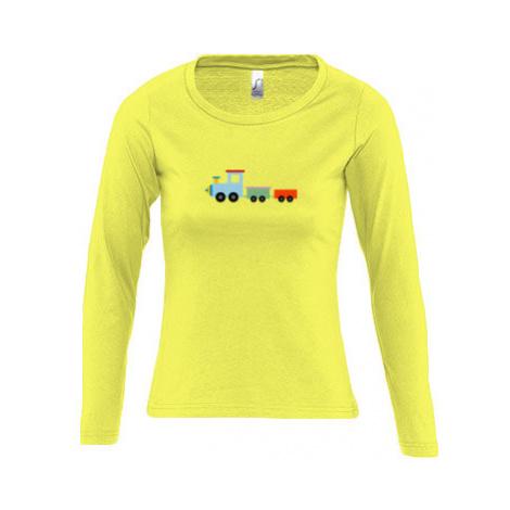 Dámské tričko dlouhý rukáv kulatý výstřih Kids train