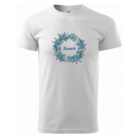 Ženích a nevěsta - květinový věneček (Pecka design) - Heavy new - triko pánské