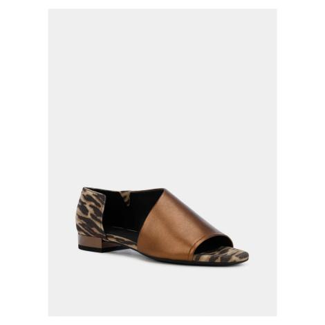 Geox hnědé kožené sandály