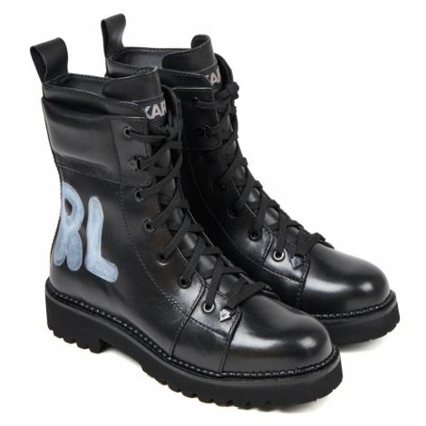 Kotníková Obuv Karl Lagerfeld Kadet Ii Hi Lace Boot - Černá