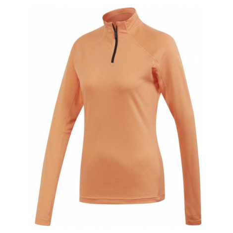 adidas TERREX TRACEROCKER 1/2 ZIP oranžová - Dámské triko
