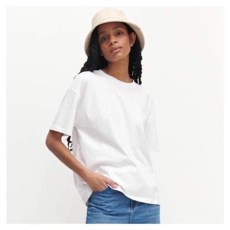 Reserved - Tričko oversized s vysokým podílem organické bavlny - Bílá