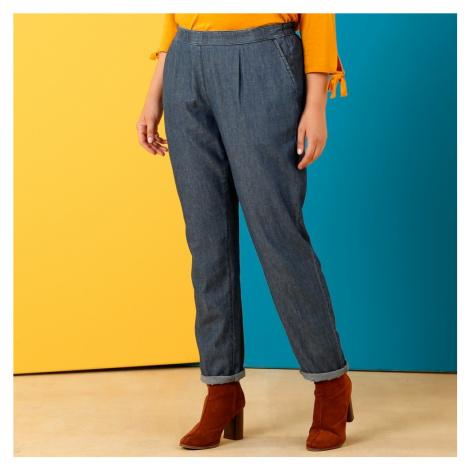 Chino denimové kalhoty modrá
