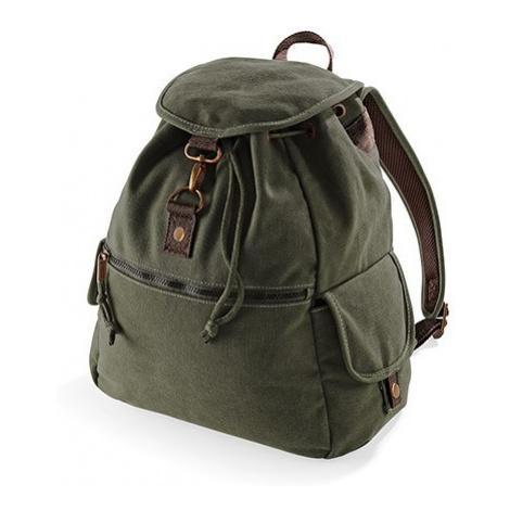Retro turistický batoh - vojenská zelená