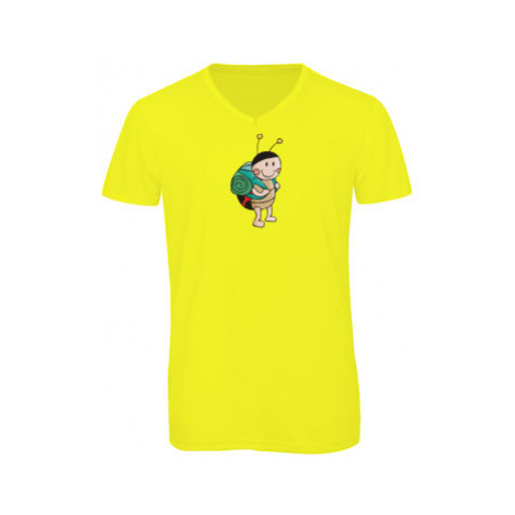 Pánské triko s výstřihem do V Beruška cestovatelka
