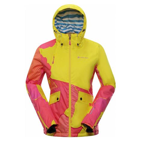 ALPINE PRO MAKERA Dámská lyžařská bunda LJCP356205PA žlutooranžová